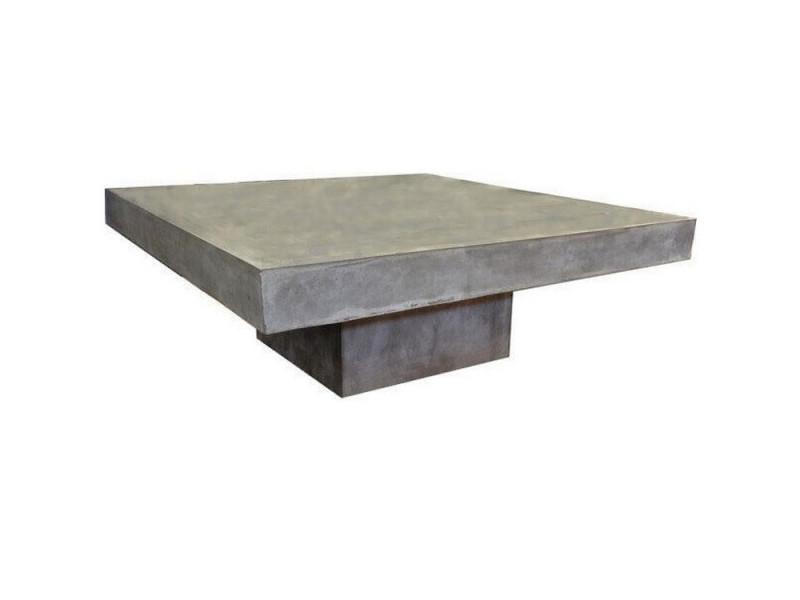 Beton - table basse carrée en béton