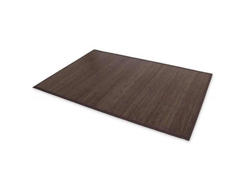 Tapis en bambou brun foncé 200cm x 200cm tap06101