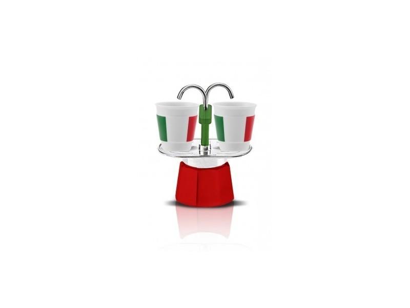 Set cafetière mini express + 2 tasses bicchierini italia bialetti
