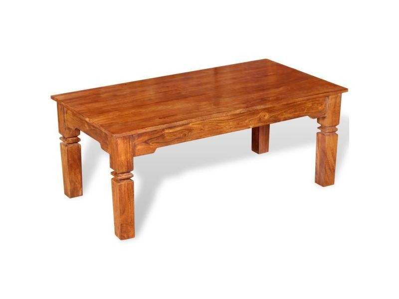 Chic consoles collection podgorica table basse bois massif 110 x 60 x 45 cm