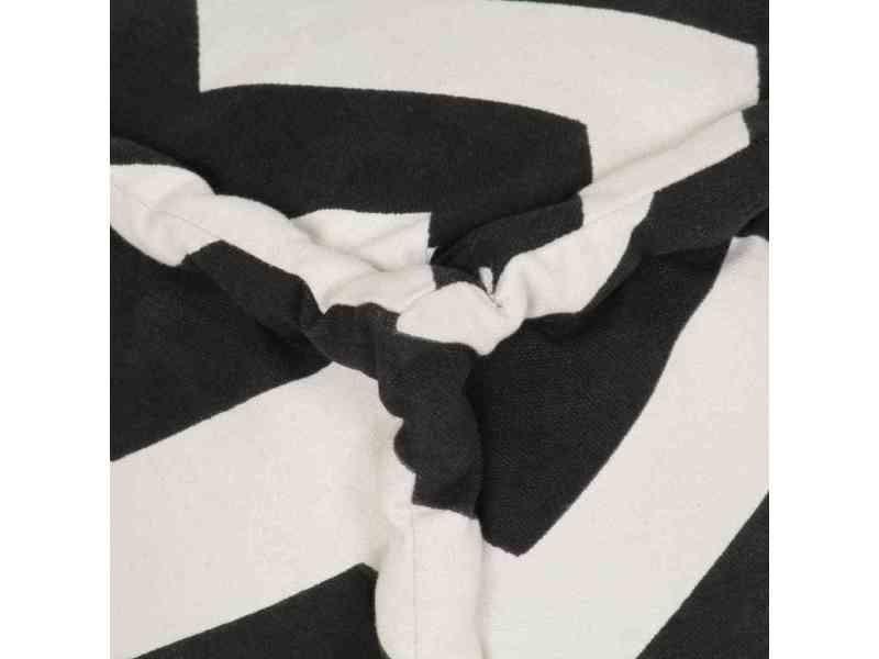 Icaverne - poufs ensemble pouf cube en coton avec motif 40 x 40 cm noir et blanc