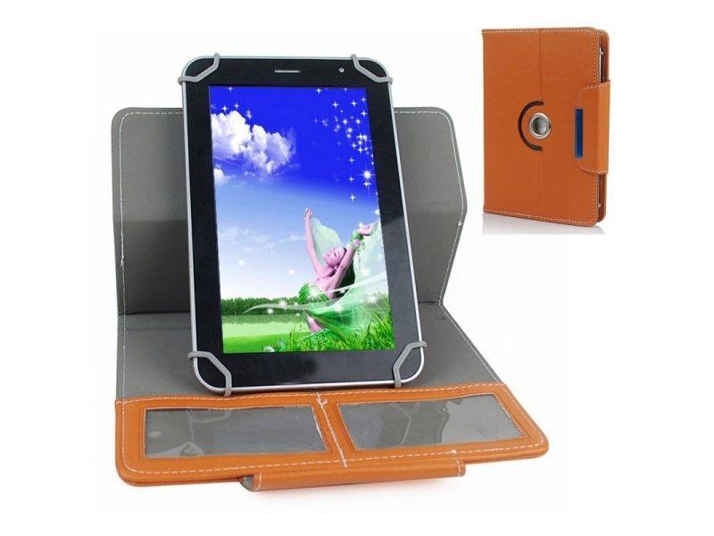 etui de protection housse tablette 7 pouces 360 simili cuir marron vente de accessoires pc. Black Bedroom Furniture Sets. Home Design Ideas