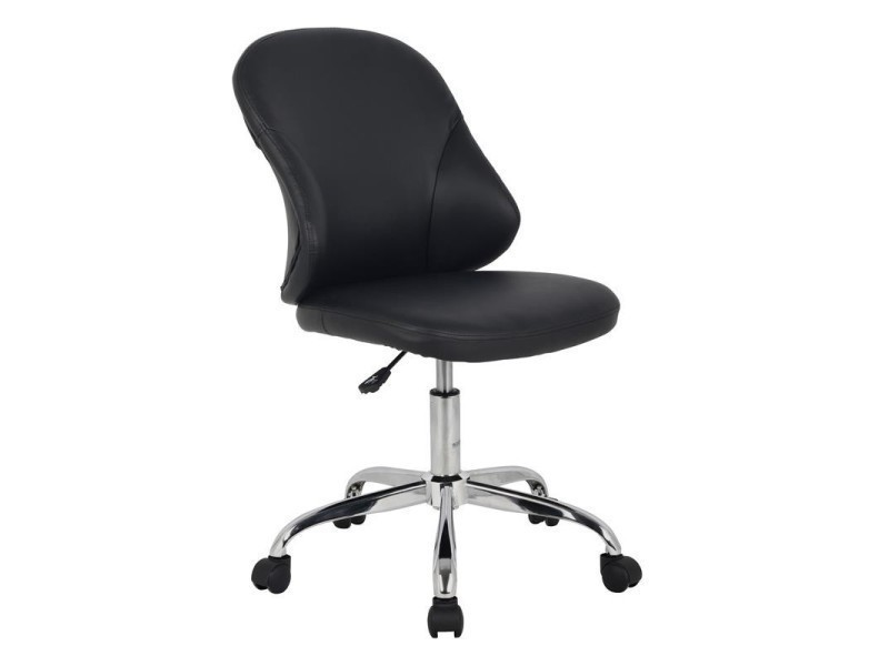 Tabouret à roulettes noir vente de fauteuil de bureau conforama