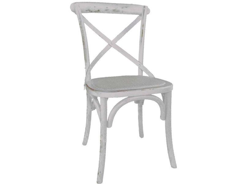 Chaise de bistrot en bois vieilli Vente de ANTIC LINE