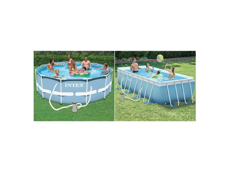 Piscine Tubulaire Carree Intex Prism Frame 4 88 X 4 88 X 1 22 M