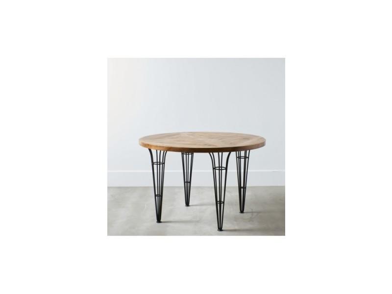 Table bois et pieds coniques métal essential