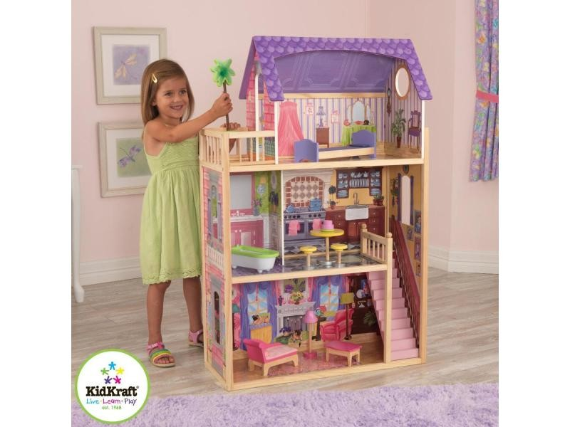 Maison de poupées kayla 65092 - Vente de KIDKRAFT - Conforama 56f2199ceafc