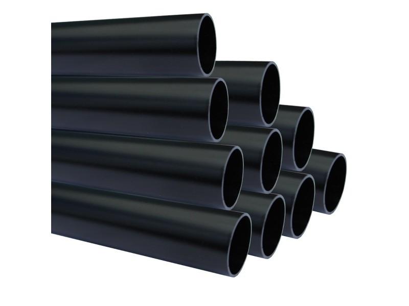Lot de 10_tube aluminium anodisé longueur 100 cm ø 30 mm noir