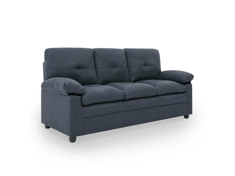 Canapé 3 places en tissu gris fenix