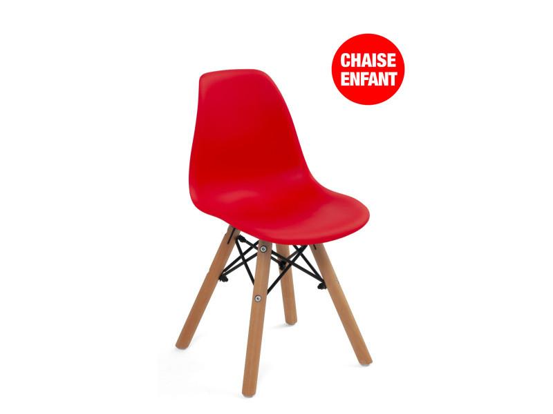 Chaise design scandinave enfant couleur NEA (rouge) 447