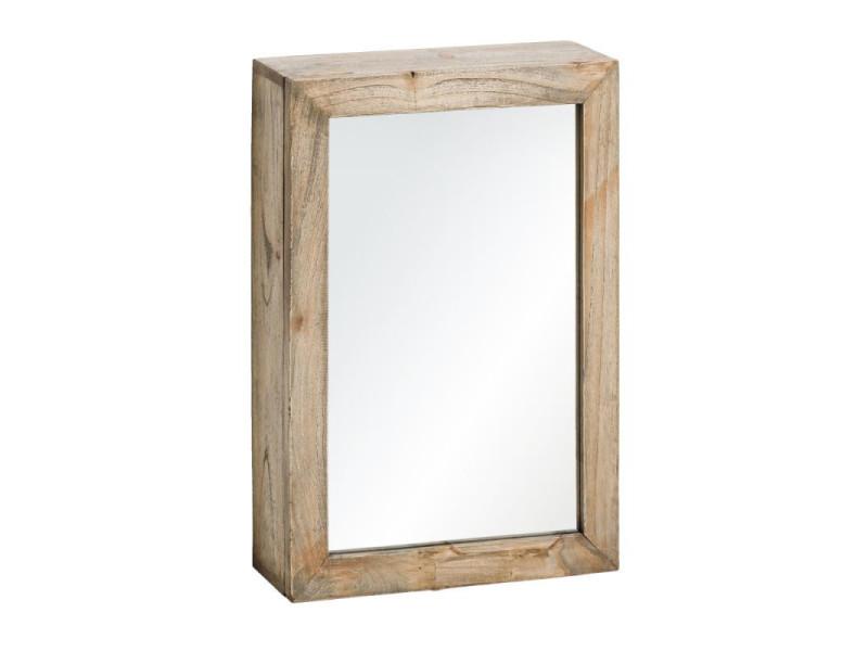 Armoire miroir en bois naturel taille s - mikto - l 50 x l 15 x h 70 - neuf