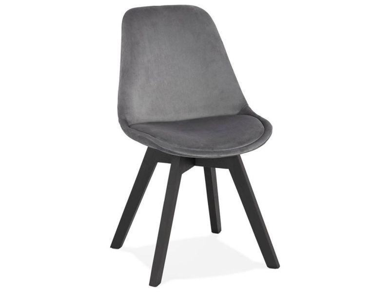 Paris prix - chaise design velours & bois \