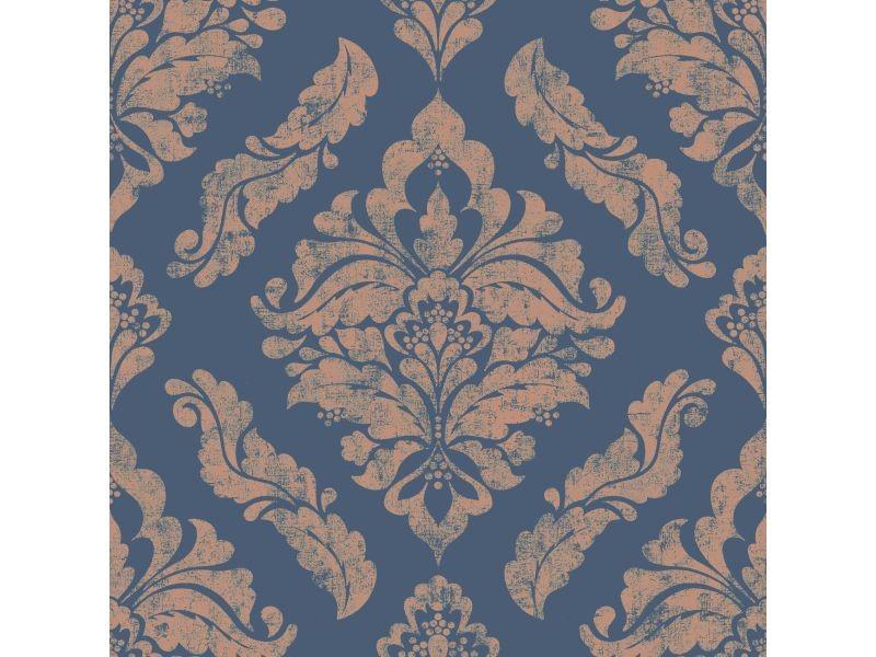 Papier peint intissé damaris métallique 1005 x 52cm bleu 104155