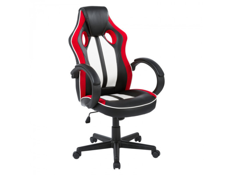 fauteuil pivotant gamer rouge et noir conforama. Black Bedroom Furniture Sets. Home Design Ideas