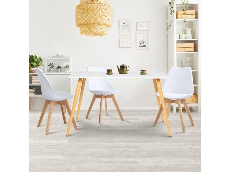 Table A Manger Scandinave Sara 120 Cm Blanche Vente De Id Market