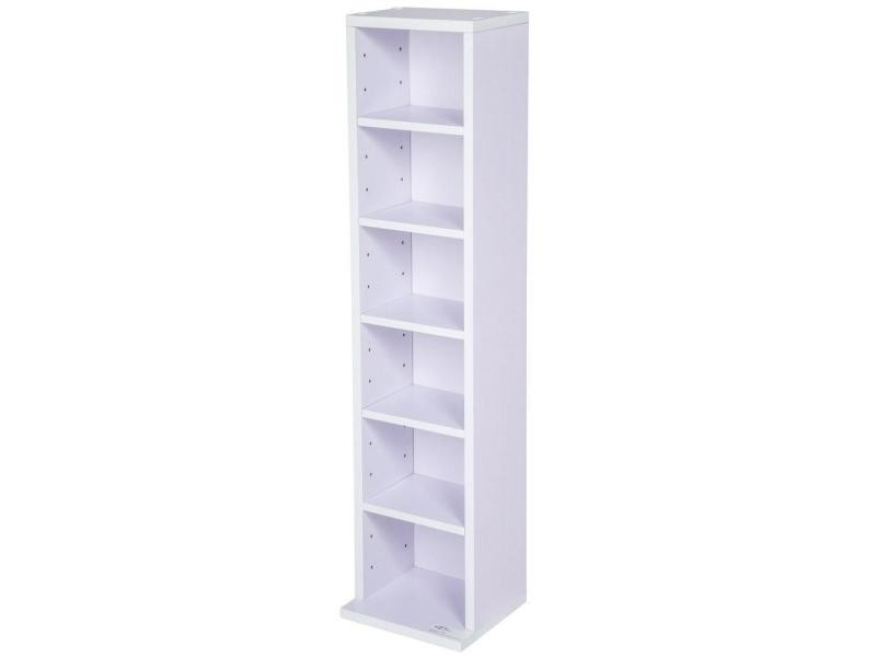 armoire tag re rangement cd dvd meuble de rangement pour 100 cds blanc violet helloshop26. Black Bedroom Furniture Sets. Home Design Ideas