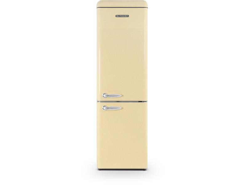 Réfrigérateur combiné schneider, sccb250vcr