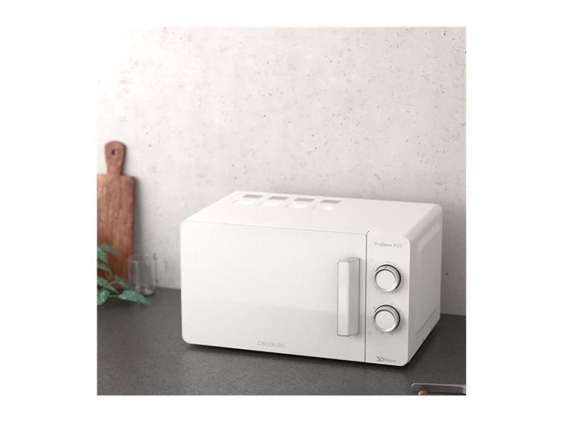 Micro-ondes de 20l avec minuterie 1150w blanc