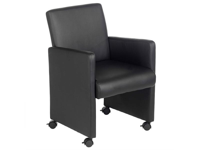 fauteuil sur roulettes antonia noir vente de idimex conforama. Black Bedroom Furniture Sets. Home Design Ideas
