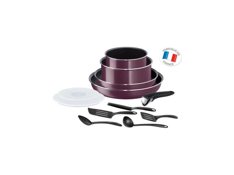 Ingenio essential violet byzantium batterie de cuisine 12 pieces tous feux sauf induction l2019702 TEF3168430297746