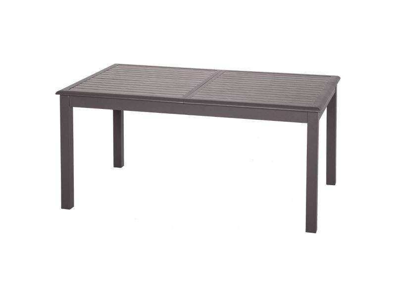 Table de jardin extensible azua - 10 personnes - marron expresso ...