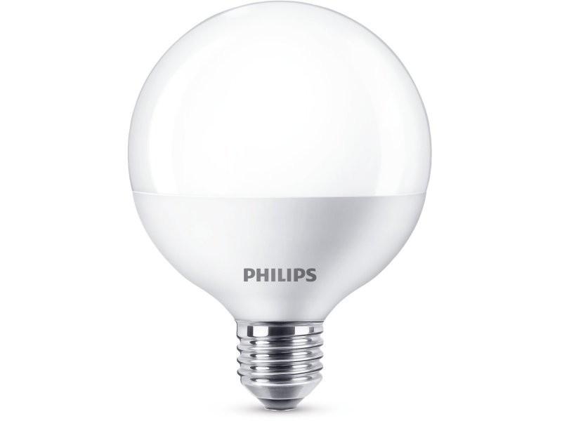 Ampoule philips globe led e27 15w equivalent 100w blanc chaud