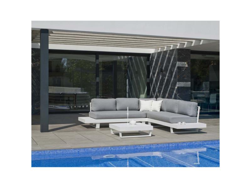 Salon de jardin en aluminium canapé d\'angle anastacia - Vente de ...