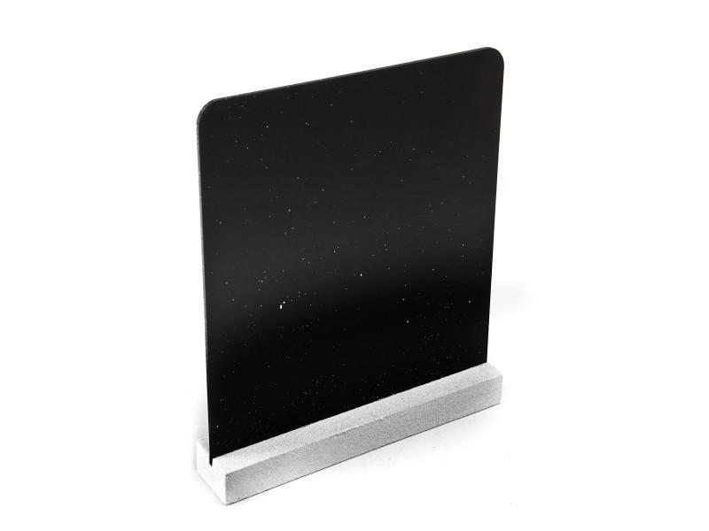 Lot de 10 menu-ardoises double face coloris blanc - 16 x 17 cm