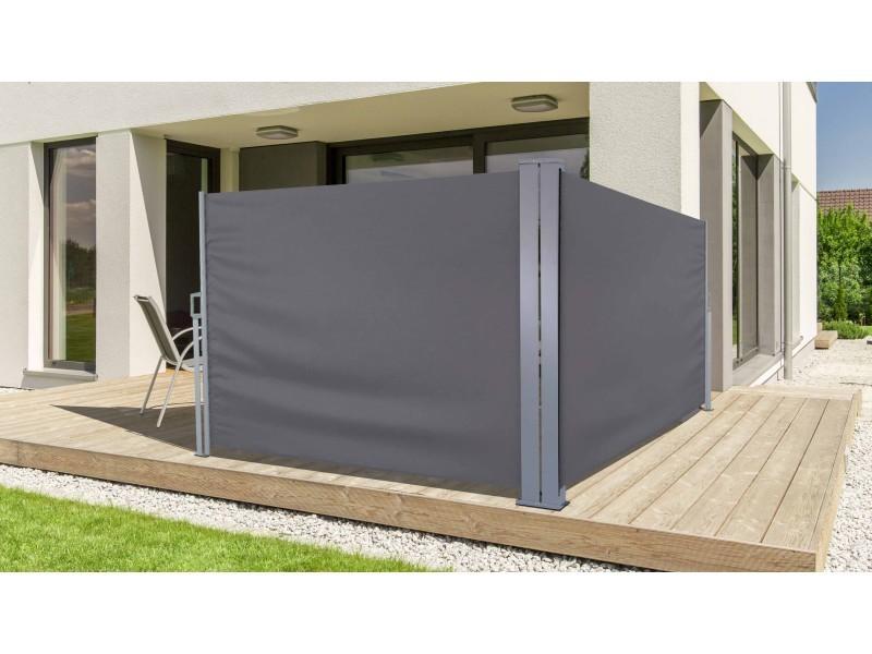paravent r tractable double vente de brise vue panneau. Black Bedroom Furniture Sets. Home Design Ideas