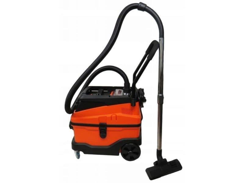 Dcraft | aspirateur industriel | puissance 600 w | force d'aspiration 18 kpa | filtre hepa | avec fonction soufflerie - orange