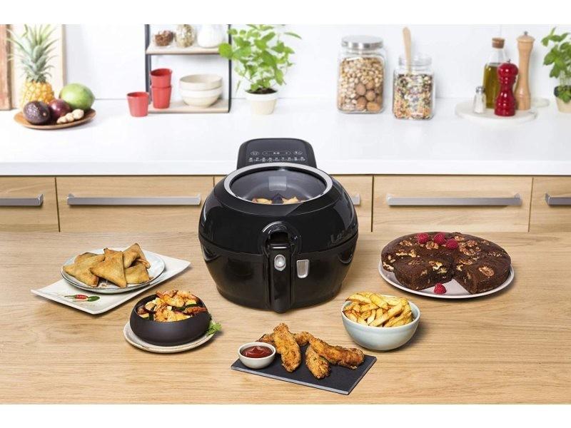 Friteuse électrique sans huile de 1,2kg pour 6 personnes 1350w noir