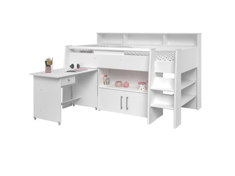 lit combin enfant sign 130 x 211 x 131 cm vente de habitat et jardin conforama. Black Bedroom Furniture Sets. Home Design Ideas