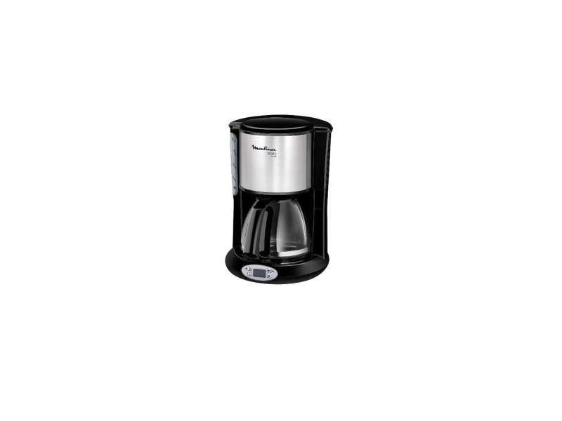 Cafetiere subito timer noir/inox