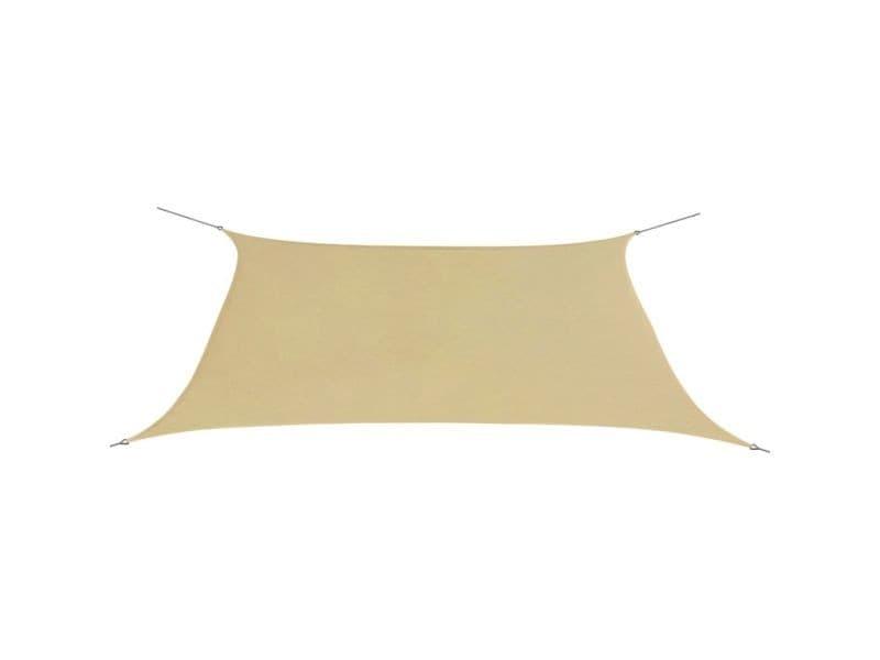 Vidaxl parasol en tissu oxford rectangulaire 2x4 m beige 42293