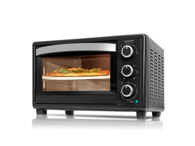 Four à convection avec grill et plat pour pizza 1500w couleur - noir