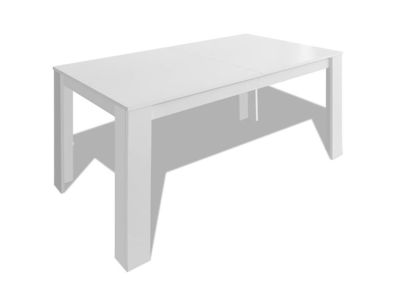 Table Blanche Salle A Manger.Vidaxl Table De Salle A Manger 140 X 80 X 75 Cm Blanc 243056