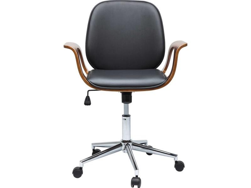 Chaise de bureau à roulettes bois et noir patron vente de kare