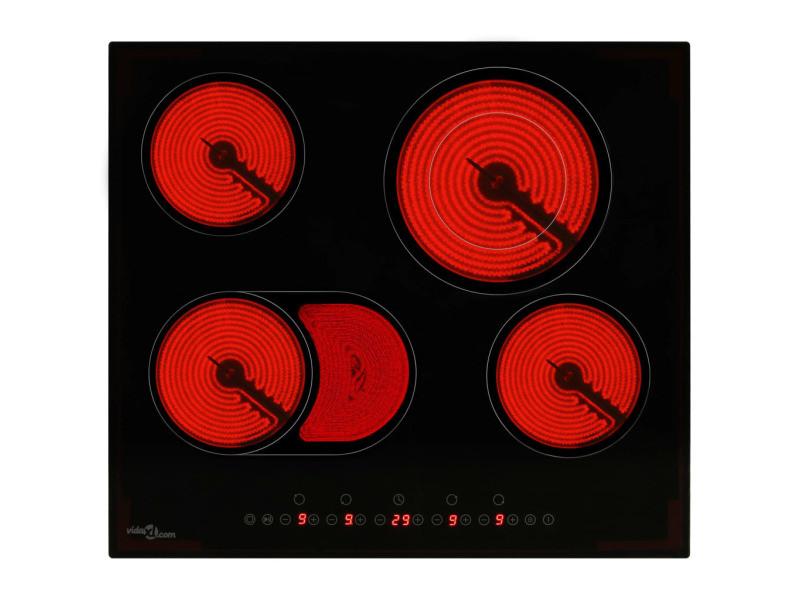 Chic électroménager de cuisine serie saint-georges plaque de cuisson céramique 4 brûleurs contrôle tactile 6600 w
