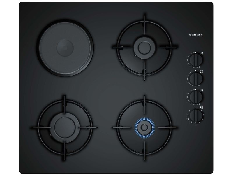 Table de cuisson verre mixte gaz 60cm noir - eo6b6yb10 eo6b6yb10