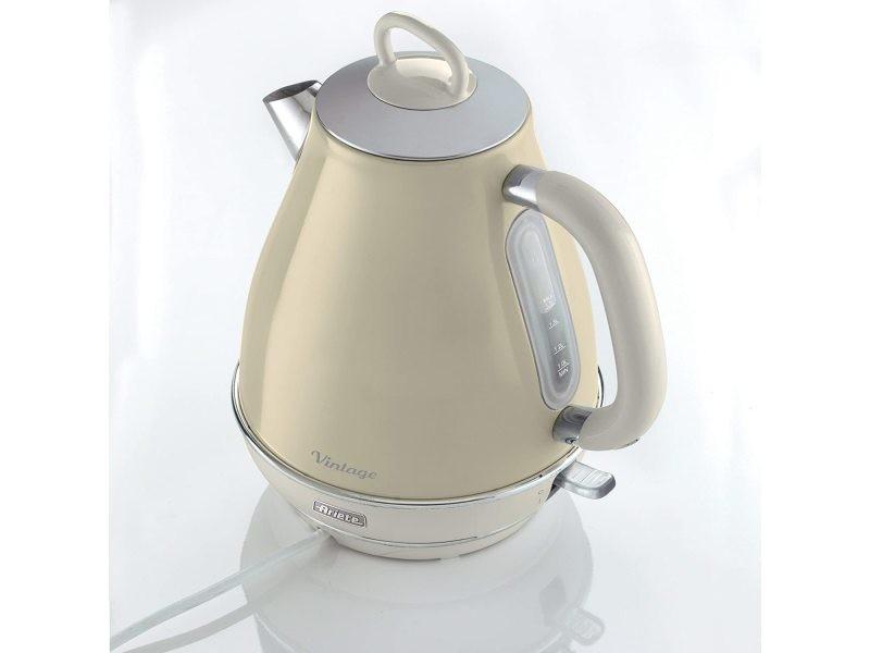 Bouilloire électrique de 1,7l sans fil vintage 2000w beige