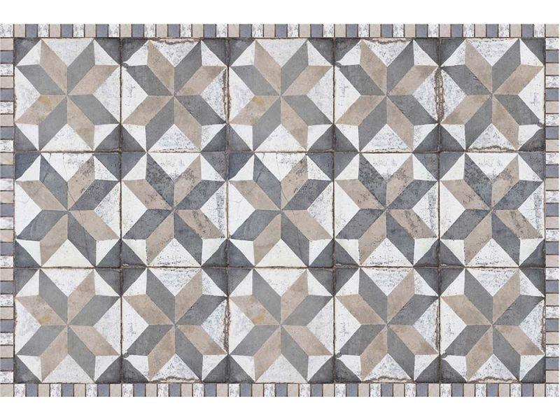 Contento - tapis interieur extérieur en vinyle carreaux de ciment