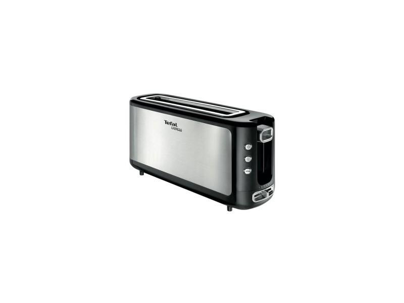 Grille pain 1000w toaster inox 1 fente longue touche d'ejection fonction décongélation