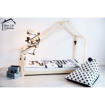 lit cabane bois massif sommier 70x140 vente de lit enfant conforama. Black Bedroom Furniture Sets. Home Design Ideas