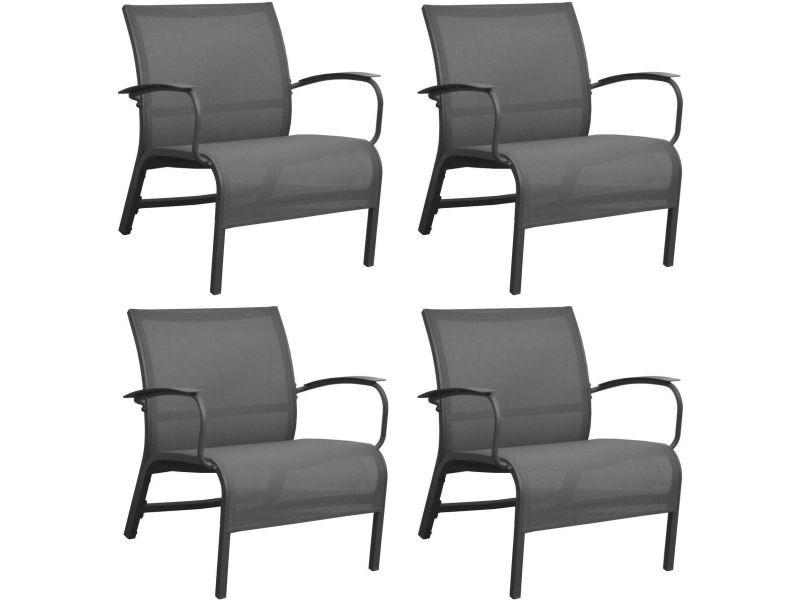 Fauteuil lounge en aluminium linea (lot de 4) - Vente de PROLOISIRS ...