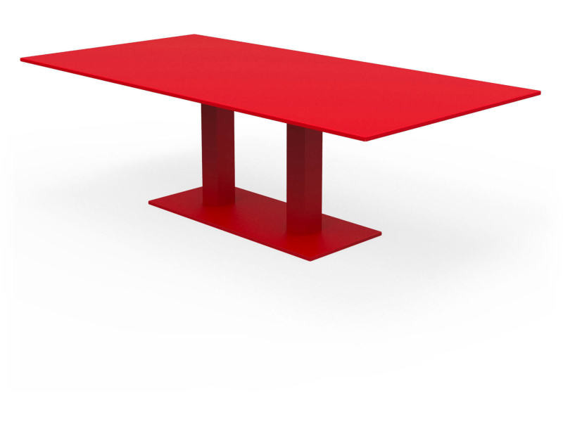 Table metropolitain rouge coquelicot Ta_MET_Rect240x120_h75_Coq