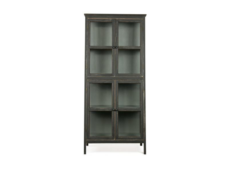 Armoire design asymétrique en bois noir herritage couleur noir