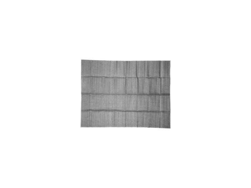 Natte de plage rectangulaire - 153 x 198 cm - plastique - gris clair