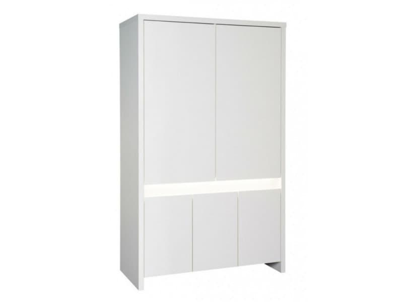 Armoire bébé 5 portes bois laqué blanc planet white l 116 x h 189 x p 53 cm 06 900 02 00