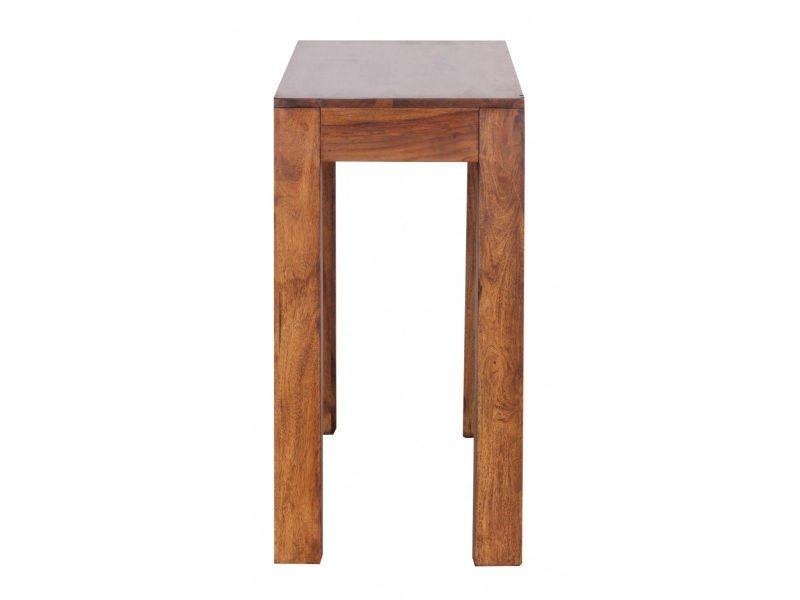 console contemporaine 120 cm avec 1 tiroir en bois massif sheesham vente de comforium conforama. Black Bedroom Furniture Sets. Home Design Ideas