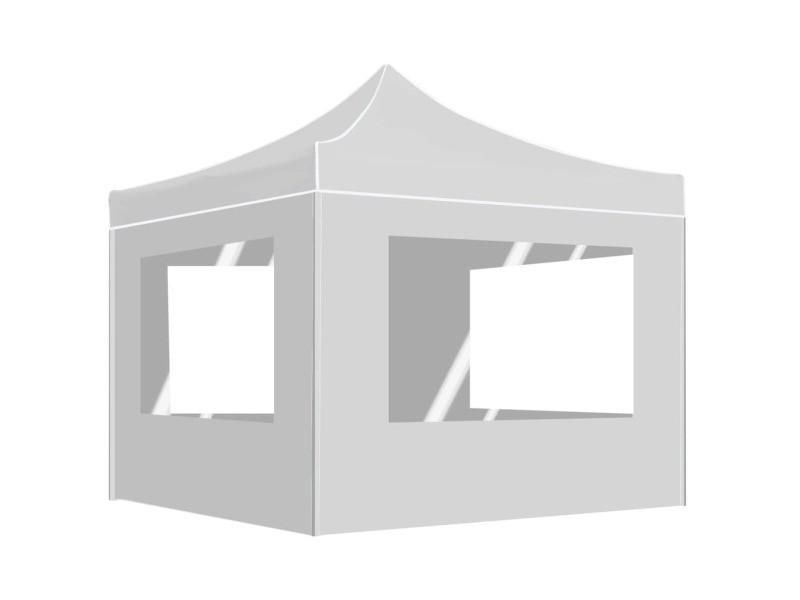 Stylé structures extérieures ensemble tarawa-sud tente de réception pliable avec parois aluminium 3x3 m blanc